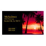 Puesta del sol trémula magnífica y velero de la is plantilla de tarjeta personal