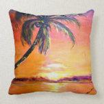 Puesta del sol tropical almohada