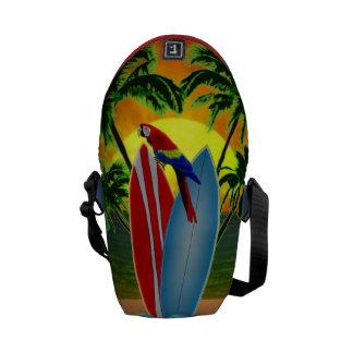 Puesta del sol tropical bolsas de mensajeria