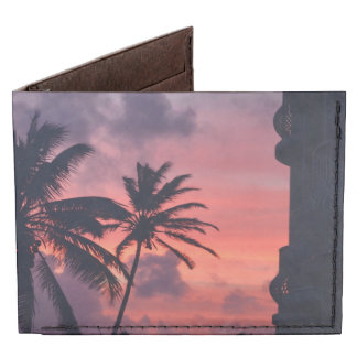 Puesta del sol tropical brillante billeteras tyvek®