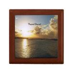 Puesta del sol tropical cajas de regalo