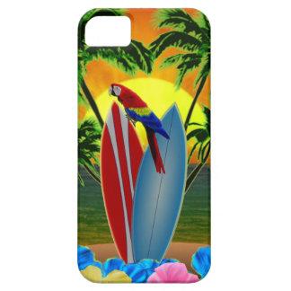 Puesta del sol tropical iPhone 5 funda