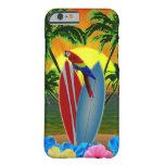 Puesta del sol tropical funda de iPhone 6 barely there