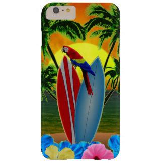 Puesta del sol tropical funda para iPhone 6 plus barely there