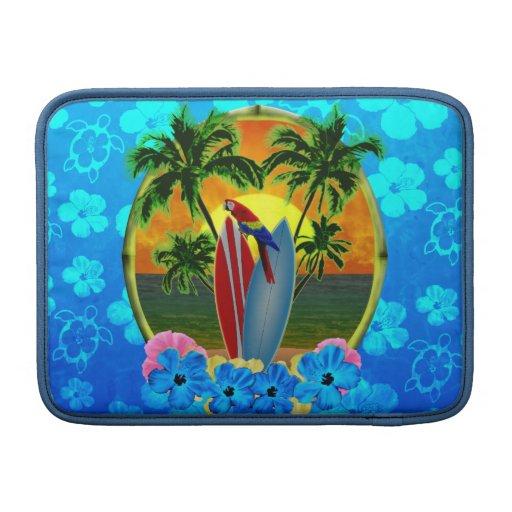 Puesta del sol tropical funda para macbook air
