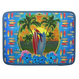 Puesta del sol tropical funda macbook pro