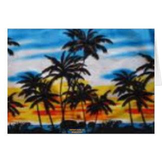 Puesta del sol tropical (impresión de la hawaiana  tarjetas