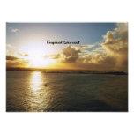 Puesta del sol tropical impresion fotografica