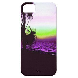 Puesta del sol tropical iPhone 5 carcasa