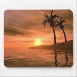 Puesta del sol tropical Mousepad Alfombrillas De Raton