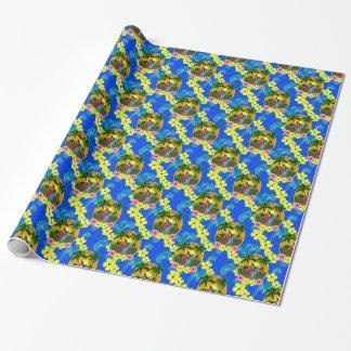 Puesta del sol tropical papel de regalo