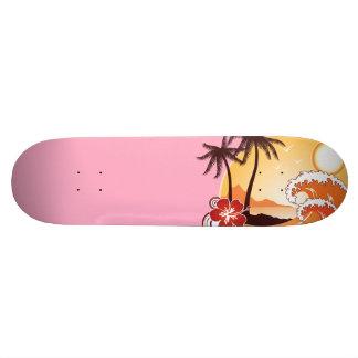 Puesta del sol tropical patines