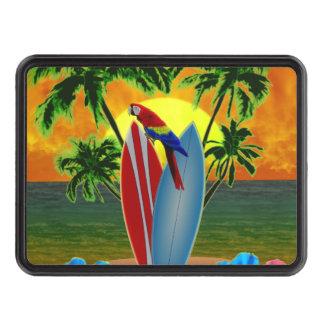Puesta del sol tropical tapas de remolque