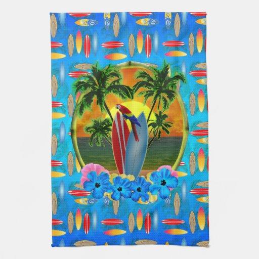 Puesta del sol tropical toalla