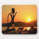 Puesta del sol Turquía de la cachimba Tapete De Raton