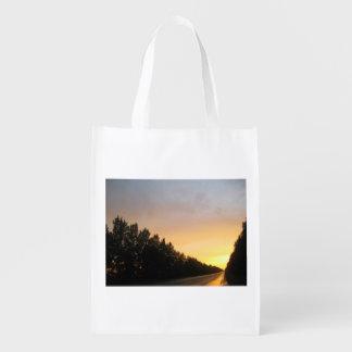 Puesta del sol ucraniana bolsas para la compra