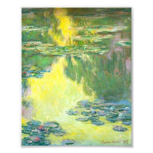 Puesta del sol Waterlilies de Monet Impresion Fotografica