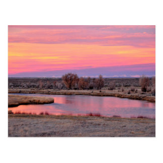 Puesta del sol Wyoming de Green River Postales