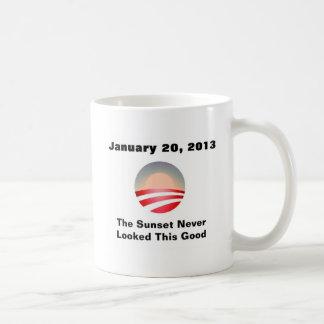 Puesta del sol y cambio de Anti-Obama Taza