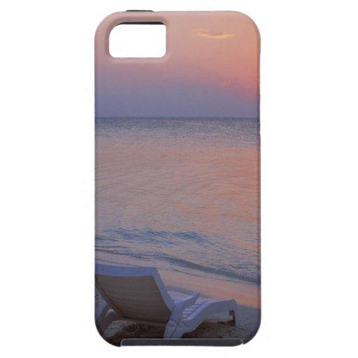 Puesta del sol y mar funda para iPhone SE/5/5s