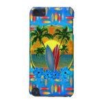 Puesta del sol y tablas hawaianas funda para iPod touch 5G