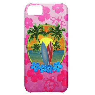 Puesta del sol y tablas hawaianas funda para iPhone 5C