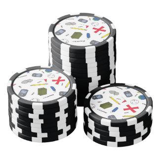 Puesta en antememoria de microprocesadores juego de fichas de póquer
