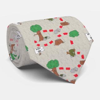 Puesta en antememoria del lazo de la aventura corbata personalizada