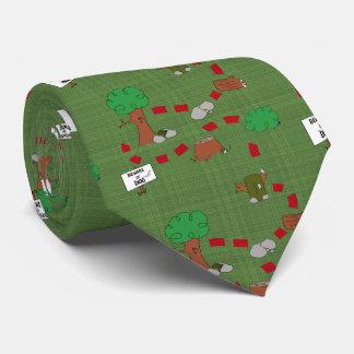 Puesta en antememoria del lazo de la aventura corbatas personalizadas