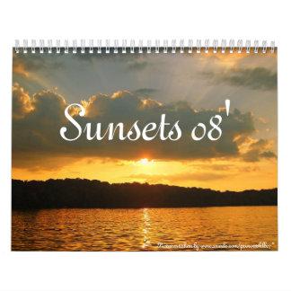Puestas del sol 08' calendarios de pared
