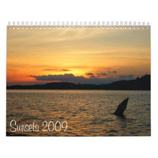 Puestas del sol 2009 calendarios