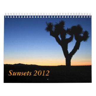 Puestas del sol 2012 calendario