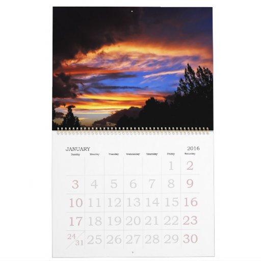 Puestas del sol de Aotearoa - calendario 2008