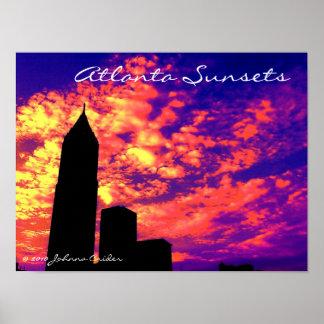 Puestas del sol de Atlanta Póster