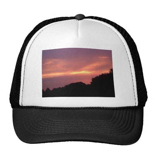 Puestas del sol de mi ventana gorras de camionero