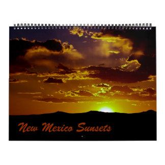 Puestas del sol de New México Calendarios De Pared