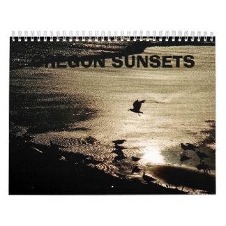 Puestas del sol de Oregon Calendario