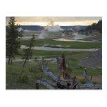 Puestas del sol de Yellowstone Postal