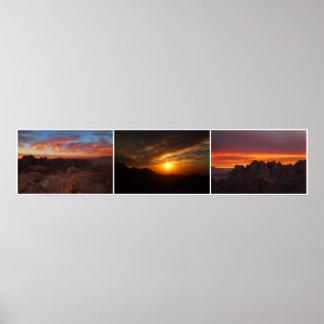 Puestas del sol del Petra Póster