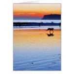 Puestas del sol del Point Loma de las playas Tarjeta De Felicitación