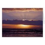 Puestas del sol en el cabo Suráfrica Felicitacion