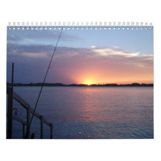 Puestas del sol en el lago calendarios
