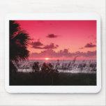 Puestas del sol en rosa alfombrillas de ratones