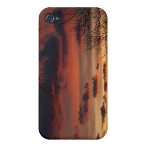 Puestas del sol))))) iPhone 4 carcasa