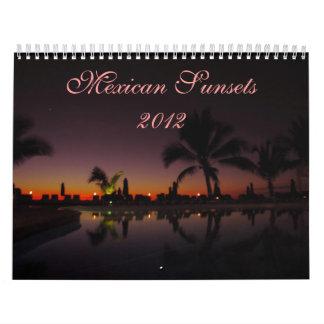Puestas del sol mexicanas Calendario 2012