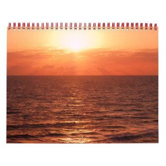 puestas del sol, océanos, animales, flores y cosas calendario