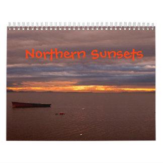 Puestas del sol septentrionales calendario