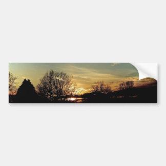 Puestas del sol y siluetas pegatina para auto