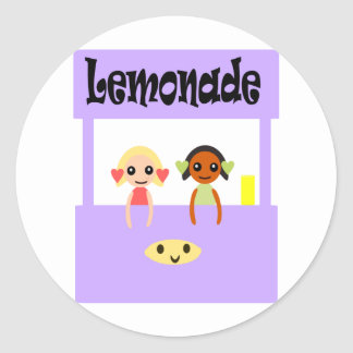 Puesto de limonadas pegatinas redondas