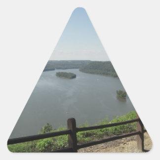 Puesto de observación del punto del pináculo colcomanias de triangulo